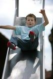 Junge auf Plättchen Lizenzfreie Stockfotografie