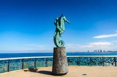 Junge auf Seahorse - Puerto Vallarta, Mexiko lizenzfreie stockfotografie