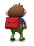 Junge auf seiner Methode zur Schule Lizenzfreie Stockbilder