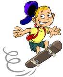 Junge auf Skateboard stock abbildung