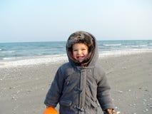 Junge auf Strand   Stockfotografie