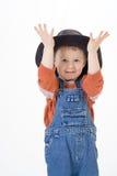 Junge auf weißem Hintergrund Stockbild