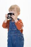 Junge auf weißem Hintergrund Lizenzfreies Stockfoto