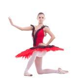 Junge Ballerinaaufstellung Stockfotos