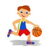 Junge basketballer lizenzfreie abbildung