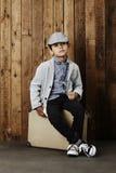 Junge bereit zu den Ferien Lizenzfreies Stockfoto