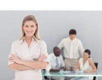 Junge Berufsgeschäftsfrau stockbilder