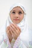 Junge betende Frau stockbilder