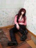 Junge betrunkene Frau lizenzfreie stockfotografie