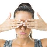 Junge blinde Frau Lizenzfreie Stockbilder