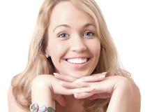 Junge blonde Frau. Lizenzfreies Stockfoto