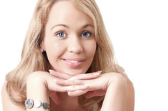 Junge blonde Frau. Lizenzfreie Stockfotos