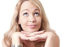 Junge blonde Frau. Stockfotografie