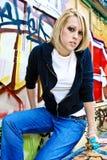 Junge blonde Frau Lizenzfreie Stockfotos