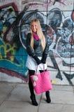 Junge blonde Frau der Schönheit Lizenzfreies Stockfoto