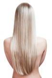 Junge blonde Frau mit dem wundervollen Haar Stockbilder