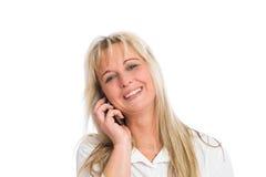 Junge blonde Geschäftsfrau Lizenzfreies Stockbild