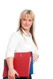 Junge blonde Geschäftsfrau Lizenzfreies Stockfoto