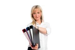 Junge blonde Geschäftsfrau Lizenzfreie Stockbilder