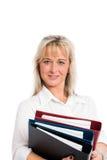 Junge blonde Geschäftsfrau Lizenzfreie Stockfotos