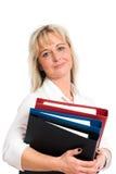 Junge blonde Geschäftsfrau Stockfoto