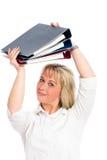 Junge blonde Geschäftsfrau Stockfotos