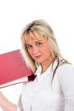Junge blonde Geschäftsfrau Stockfotografie
