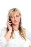 Junge blonde Geschäftsfrau Lizenzfreie Stockfotografie