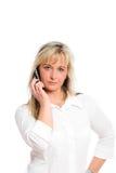 Junge blonde Geschäftsfrau Stockbild