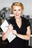 Junge blonde Geschäftsfrau Stockbilder