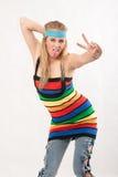Junge blonde kaukasische amerikanische Modefrau Lizenzfreie Stockfotografie