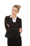 Junge blonde Lächelngeschäftsfrau Lizenzfreie Stockbilder