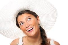 Junge Braut in einem Hut Lizenzfreies Stockfoto