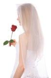 Junge Braut mit stieg Lizenzfreie Stockfotos