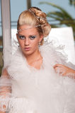 Junge Braut mit Verfassung Stockbild