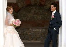 Junge Braut und Bräutigam Lizenzfreies Stockbild