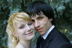 Junge Braut und Bräutigam Stockbilder