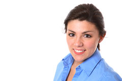 Junge Brunette-Frau lizenzfreies stockfoto