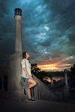 Junge Brunettefrau Stockbilder