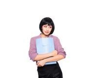 Junge Brunettefrau mit Einkaufstasche Lizenzfreie Stockfotos