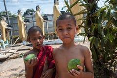 Junge buddhistische Mönche lizenzfreies stockfoto
