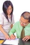 Junge chinesische Geschäftsleute Stockbild