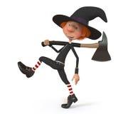 Junge 3D, der Halloween trägt Stockfotografie