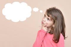 Junge Dame Denken Stockbild