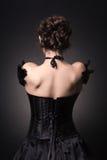 junge Dame im eleganten Abendkleid Lizenzfreies Stockfoto