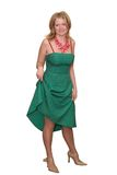 Junge Dame im grünen Kleid Lizenzfreie Stockfotos