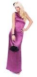 Junge Dame im rosafarbenen Kleid Stockfotos