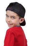 Junge in der Baseballmütze stockbild