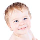 Junge der blonden und blauen Augen des Kleinkindes Lizenzfreies Stockbild