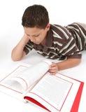 Junge, der ein Buch liest Lizenzfreies Stockbild